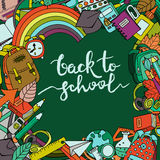 Vector back to school banner, poster or background with place for text. Stock Images