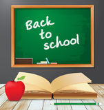 Vector back to school with Book Stock Photos