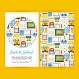 Vector Back to School Business Banners Set Template Royalty Free Stock Photos