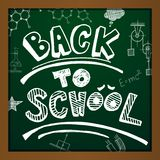 Vector back to school. Chalk drawing on green background. Eps10 Stock Photography