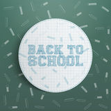 Vector Back to School circle Design Element Stock Images