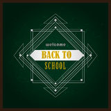 Vector back to school design element art deco Royalty Free Stock Images