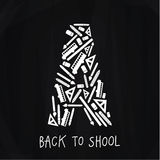 Vector back to school emblem composed of nice icons. Emblem on s Royalty Free Stock Photos