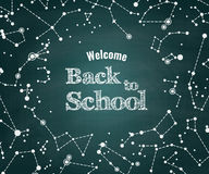 Vector Back to school green chalkboard background Stock Photo