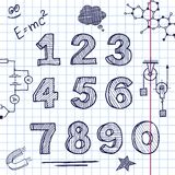 Vector back to school. Hand drawing on exercise book sheet background. Eps10 Royalty Free Stock Images