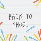Vector back to school illustration. Stock Photography