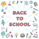 Vector back to school illustration. Bright study Stock Photos