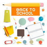Vector Back to School Objects Royalty Free Stock Photography