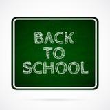 Vector Back To School over dark green board. Stock Photo
