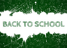 Vector Back To School over ink blots Stock Photography
