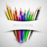 Vector Back to school poster Stock Image