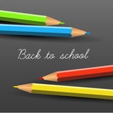 Vector Back to school poster with crayons Stock Image
