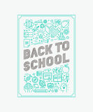 Vector back to school poster design Stock Photography