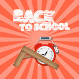 Vector Back to School Retro Illustration Royalty Free Stock Photography