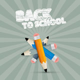 Vector Back to School Retro Illustration Royalty Free Stock Image