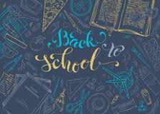 Vector back to school template. Vector Illustration