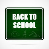 Vector Back To School Typographical Background. Welcome Back To School Typographical Background On Chalkboard With School Elements Stock Photos