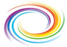 Vector backdrop of spiral rainbow spectrum Stock Photos