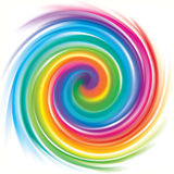 Vector backdrop of spiral rainbow spectrum Royalty Free Stock Images