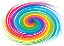 Vector backdrop of spiral rainbow spectrum Royalty Free Stock Photography