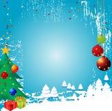 Vector Backgr del invierno de la Navidad Fotografía de archivo