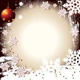 Vector Backgr del invierno de la Navidad Foto de archivo libre de regalías