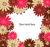 Vector backgrond with flowers Stock Photography