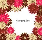 Vector backgrond met bloemen vector illustratie