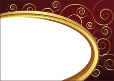 Vector Background. With Golden Oval Frame Royalty Free Stock Photography