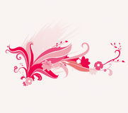 Vector background. Abstract  pink floral background Royalty Free Stock Photography