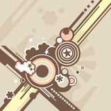 Vector background. In retro style royalty free illustration