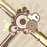 Vector background. In retro style stock illustration