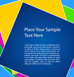 Vector background. Vector colorful background with your text Royalty Free Stock Images