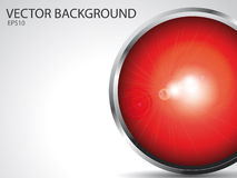 Vector background. Abstarct vector background with red sphere stock illustration
