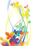 Vector background. Vector rainbow colored background with flowers for design Royalty Free Illustration
