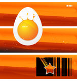 Vector background. Abstract vector background in warm colours Stock Images