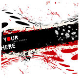 Vector background. Grunge vector background - black and red spots Stock Image