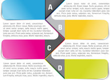 Vector background with ABCD steps. Vector colored infographic  background with ABCD steps for brochure or flyer Stock Photography