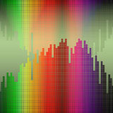 Vector abstract background, rainbow. Vector background with abstract color spectrum music graphic equalizer stock illustration