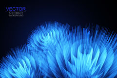 Vector background. Abstract 3D glowing bright lines. Vector background. Abstract 3D glowing bright lines Stock Images