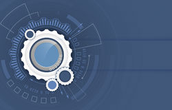 Vector background. Abstract futuristic hi-tech digital technology concept with gear wheel. Stock Images
