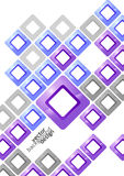 Vector background abstract geometric design Stock Image