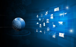 Vector background abstract global internet technology innovation concept Stock Photo