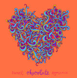 Vector background with abstract Heart curls Stock Images