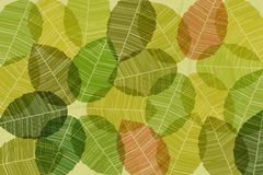Vector background with abstract leaves Royalty Free Stock Images