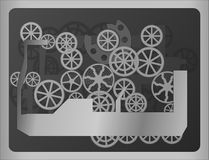 Vector background with abstract mechanism Royalty Free Stock Photos