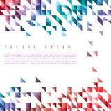 Vector background abstract polygon triangle stock illustration