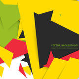 Vector background abstract polygon triangles Stock Photography