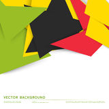 Vector background abstract polygon triangles Stock Image