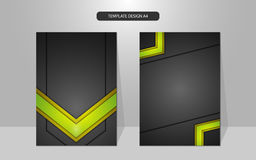 Vector background abstract tech innovation paper cover design Royalty Free Stock Photos